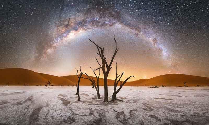 نمایی از کهکشان راه شیری